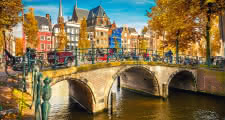 Amsterdam canals and bridges as seen on the sandemans free tour