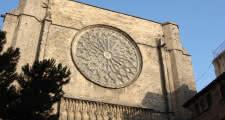 Santa Maria del Pi gothic church during the barcelona free tour