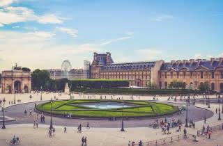 tuileries gardens louvre paris